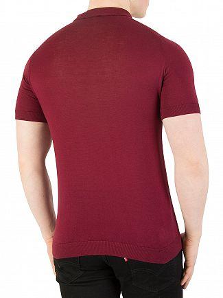 John Smedley Burgundy Grain Rhodes Polo Shirt