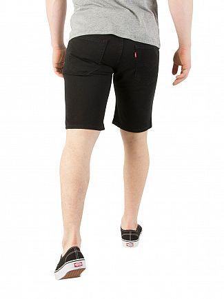 Levi's Black 502 Taper Hemmed Jet Denim Shorts