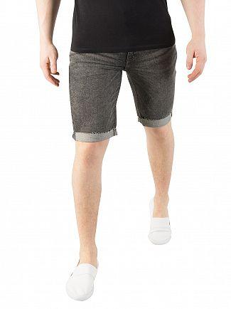 Levi's Charcoal 511 Slim Cutoff Bloke Denim Shorts