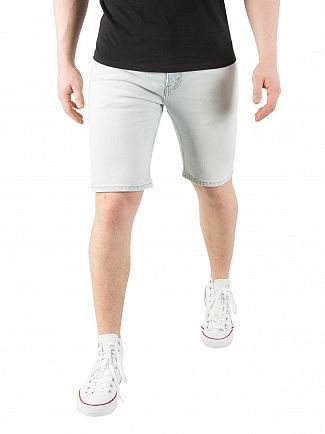 Levi's Light Blue 511 Slim Hemmed No Place Like Home Denim Shorts