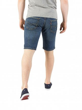 Levi's Dark Wash 511 Slim Hemmed Trippin Denim Shorts