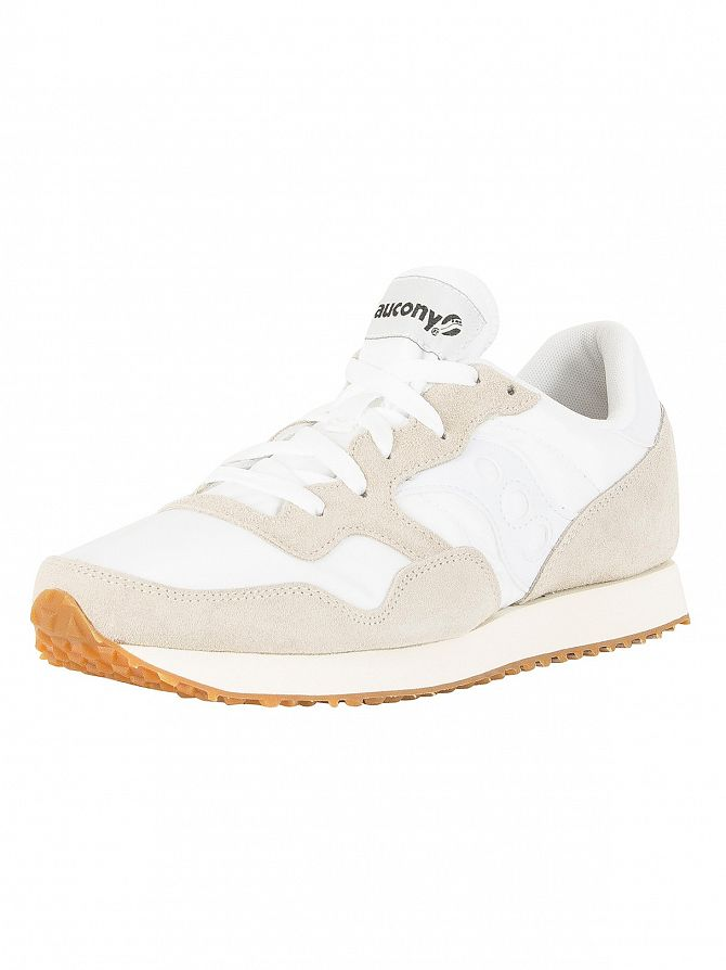 Saucony Uomo DXN Vintage Trainers Bianca
