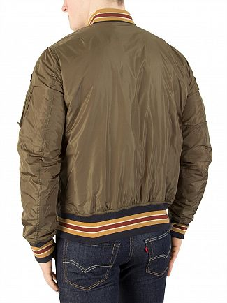 Schott Army Khaki Fair Field Bomber Jacket