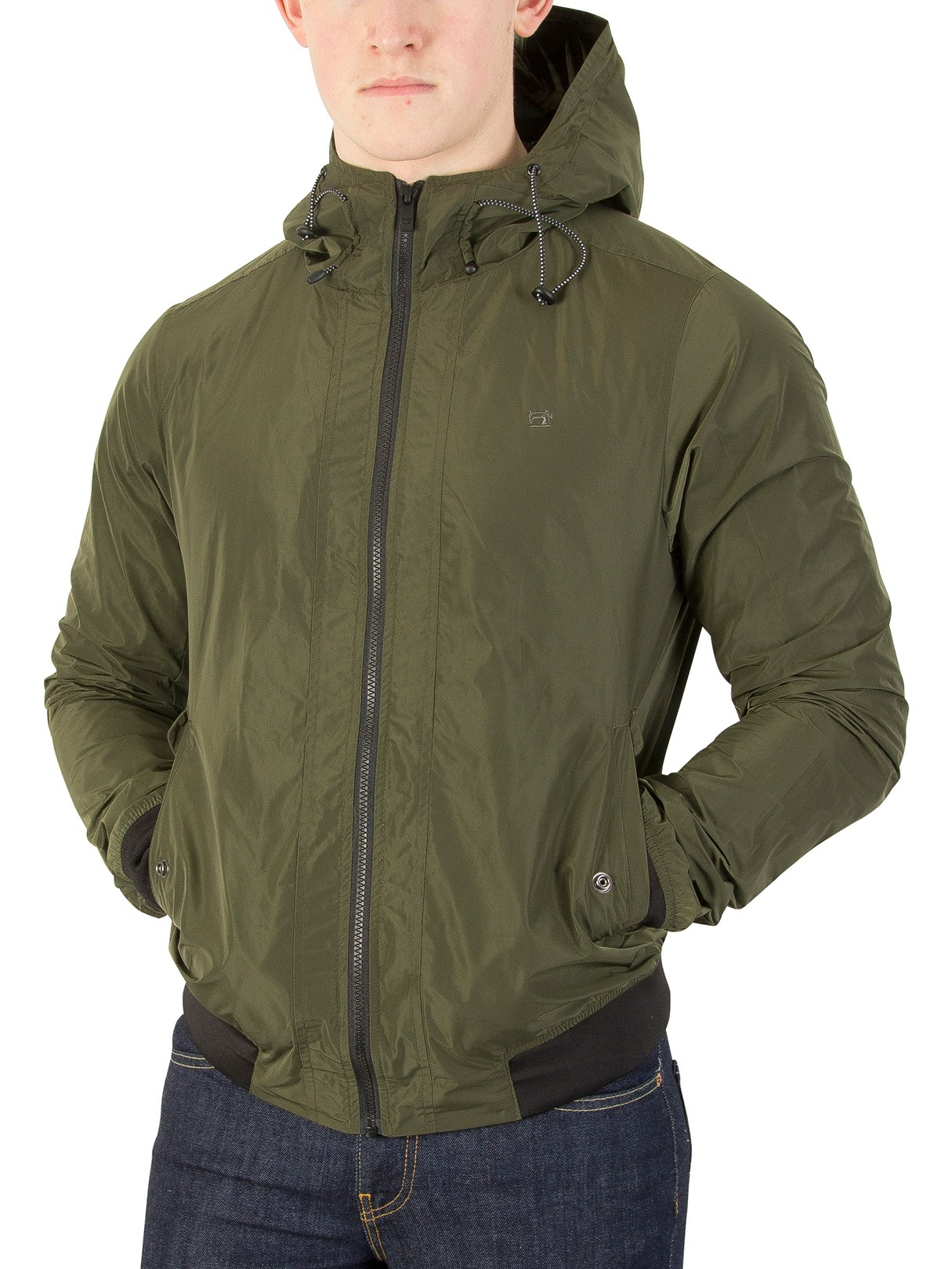 Leather Jackets & Coats|Men's Scotch & Soda Military Short Hooded Jacket