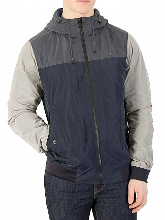 Scotch & Soda Navy/Grey Short Hooded Jacket