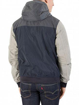 Scotch & Soda Navy/Grey Short Hooded Jacket