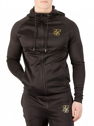 Sik Silk Black Athlete Zip Hoodie