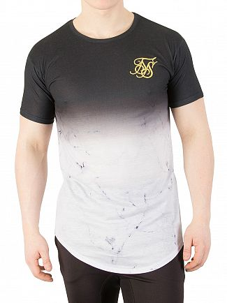 Sik Silk Black Marble Fade T-Shirt