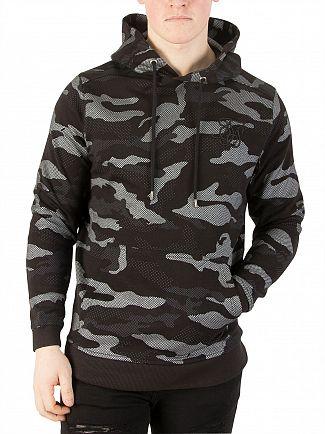 Sik Silk Black/Camo Pullover Logo Hoodie