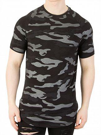 Sik Silk Black/Camo Raglan T-Shirt
