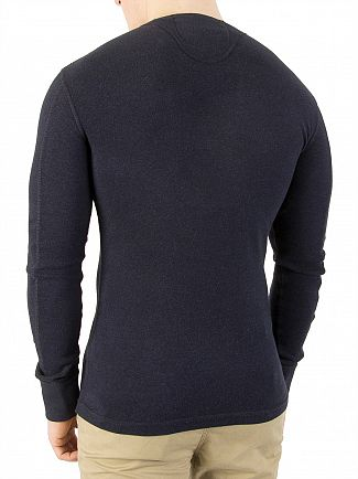 Superdry Bass Blue Grit Heritage Longsleeved Grandad T-Shirt