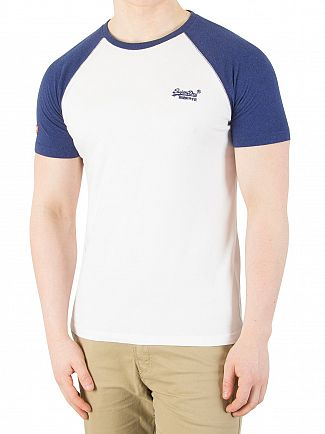 Superdry Optic/Sonic Blast Blue Orange Label Baseball T-Shirt