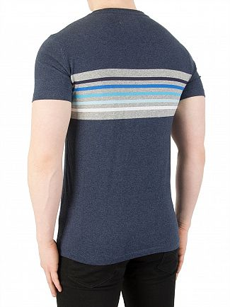 Superdry Navy Marl Orange Label Cali Surf Banner T-Shirt