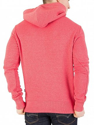 Superdry Worn Red Grit Premium Goods Duo Pullover Hoodie