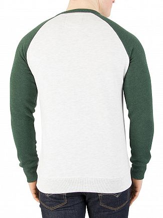 Superdry Michigan/Ice Marl Premium Goods Raglan Sweatshirt