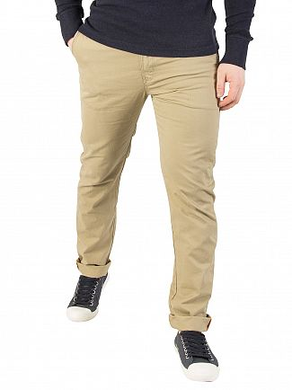 Superdry Dust Beige Rookie Slim Chinos