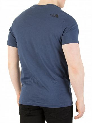 The North Face Blue Wing Teal Fine T-Shirt