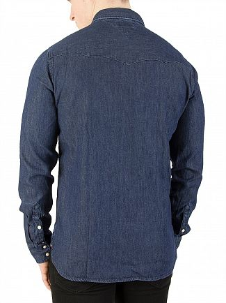 Tommy Jeans Dark Indigo Basic Denim Shirt
