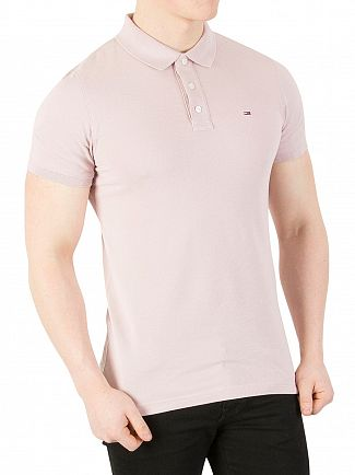 Tommy Jeans Violet Ice Basic Slim Polo Shirt