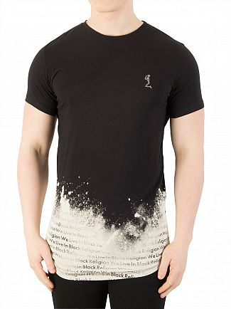 Religion Black Bleach T-Shirt