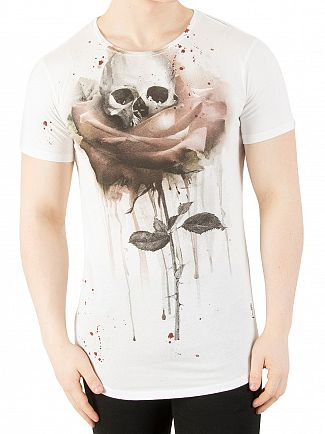 Religion White Rose Painting T-Shirt