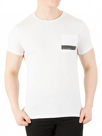 Religion White Stripe Pocket T-Shirt