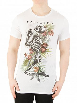 Religion White Tropic Skeleton T-Shirt