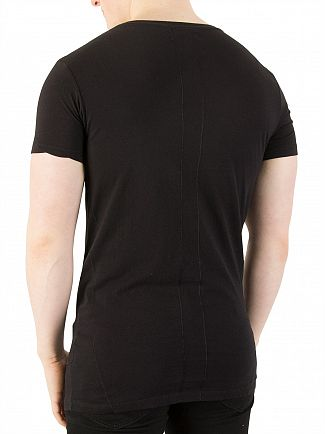 Religion Black Tropic Skeleton T-Shirt