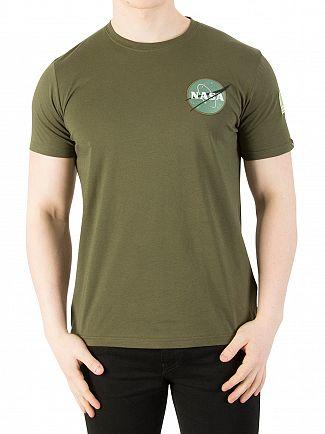 Alpha Industries Dark Green Space Shuttle T-Shirt