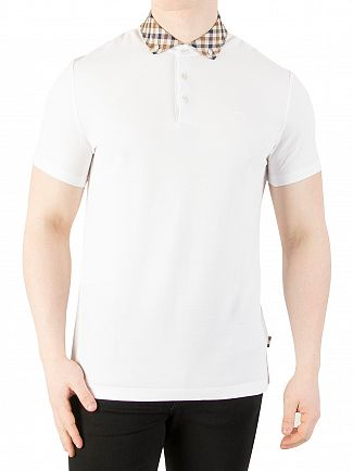Aquascutum White Coniston Collar Polo Shirt