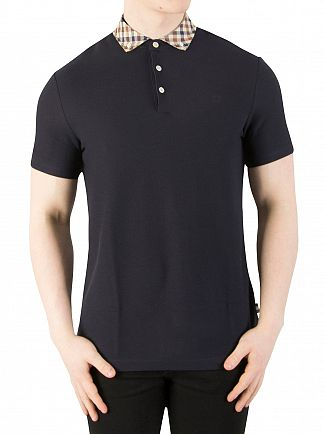 Aquascutum Navy Coniston Collar Polo Shirt