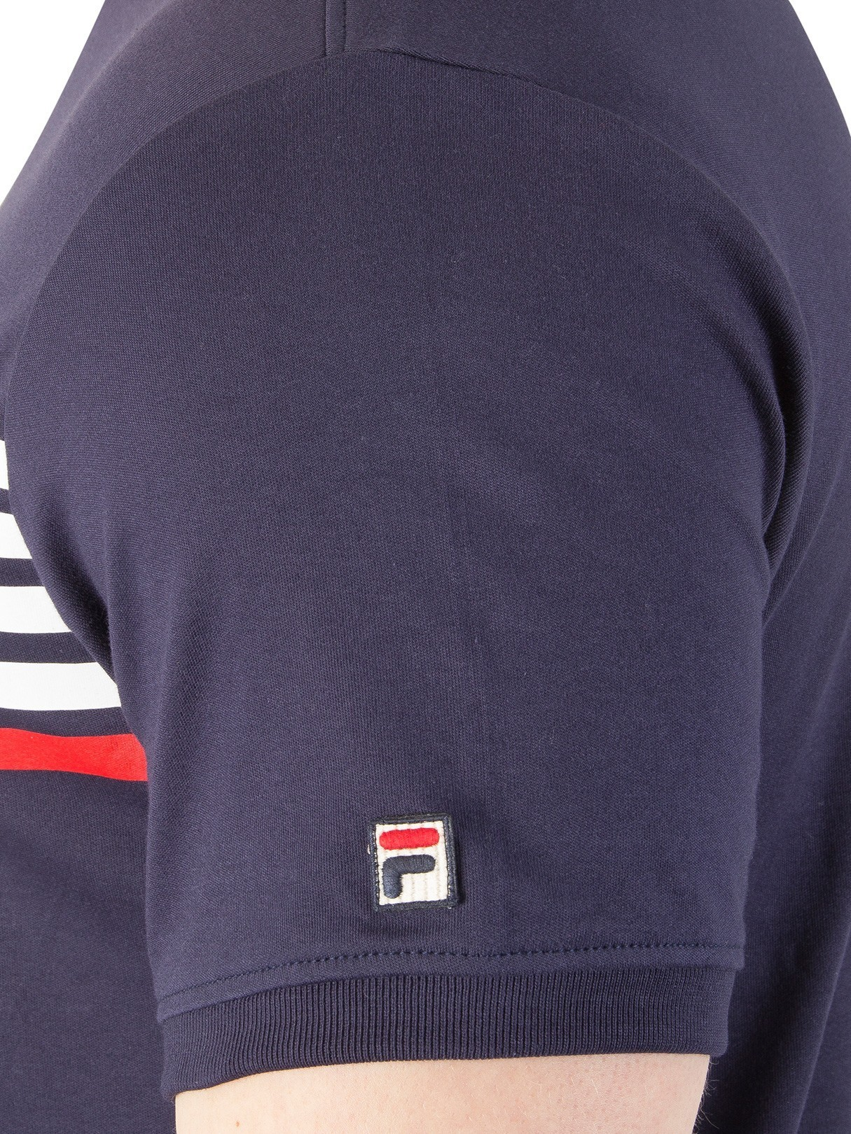 203a09b6149a Fila Vintage Peacoat Bruno 2 Panelled T-Shirt | Standout