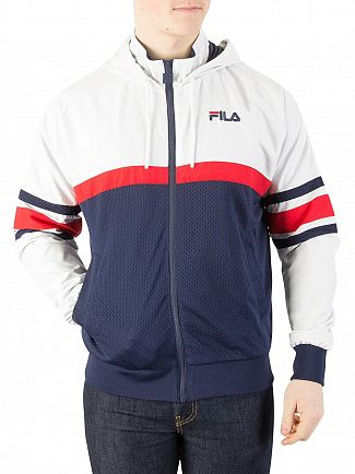 Fila Vintage White/Peacoat/Chinese Red Hansen Hooded Jacket