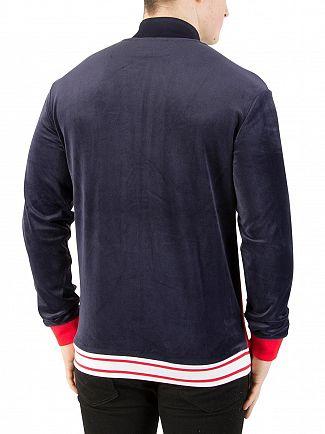 Fila Vintage Peacoat Jonas Velour Track Jacket