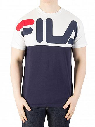 Fila Vintage Peacoat/White Lenox Cut And Sew T-Shirt