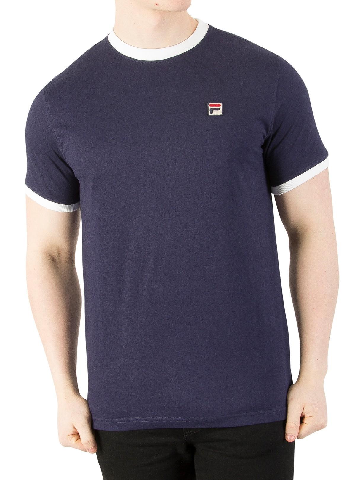 83ea446b88ae Fila Vintage Peacoat Marconi T-Shirt
