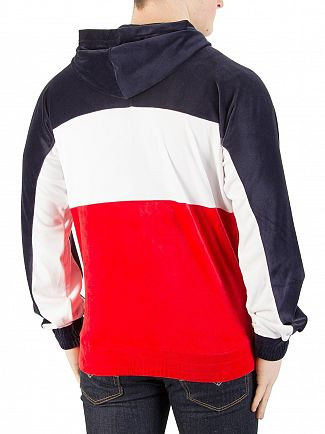 Fila Vintage Peacoat/White/Chinese Red Oscar Velour Zip Hoodie