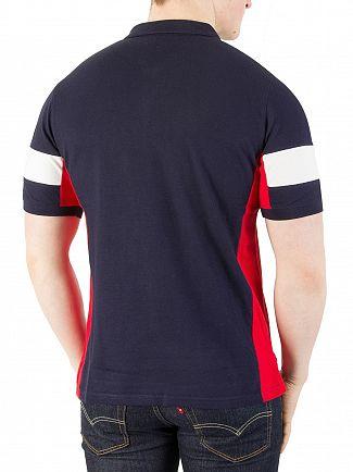 Fila Vintage Peacoat/Chinese Red/White Prago Panel Polo Shirt