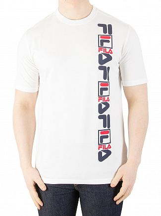 Fila Vintage White Sedge Graphic T-Shirt