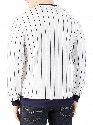 Fila Vintage White/Peacoat Valencia Velour Striped Sweatshirt