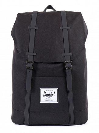 Herschel Supply Co Black WP Retreat Rubber Backpack