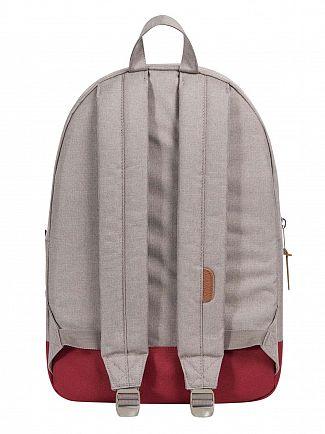 Herschel Supply Co Light Khaki, Shadow/Brick Red Settlement 600D Poly Backpack