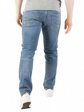 Jack & Jones Blue Denim Tim Original 654 Slim Fit Jeans