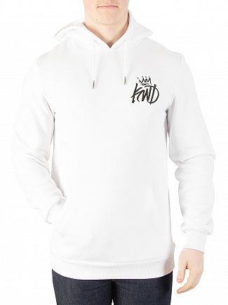 Kings Will Dream Staten Chev/Floral Hood White Graphic Hoodie
