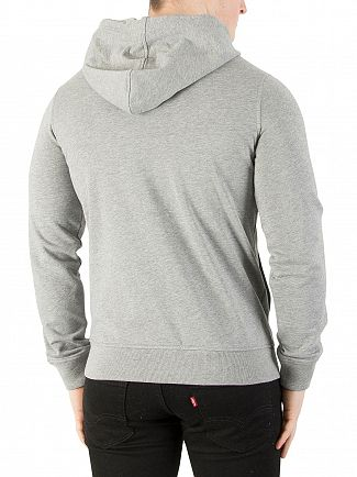 K-Way Light Grey Marl Regis French Terry Slim Fit Hoodie