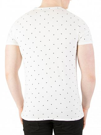 Scotch & Soda White All Over Pattern T-Shirt