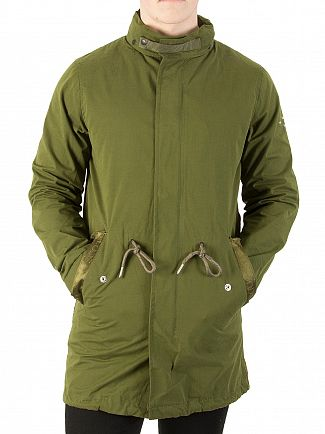 Scotch & Soda Military Long Hooded Parka Jacket