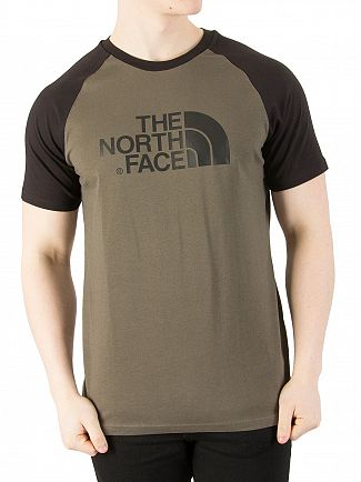 The North Face New Taupe Green Raglan Easy T-Shirt