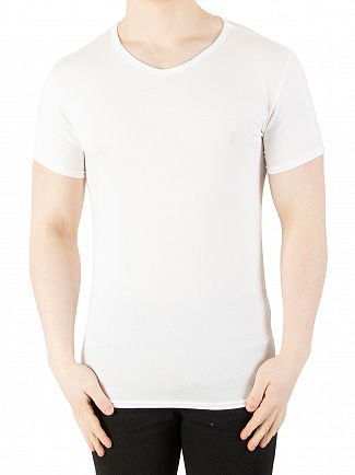 Tommy Hilfiger White 3 Pack Premium Essentials V-Neck T-Shirts