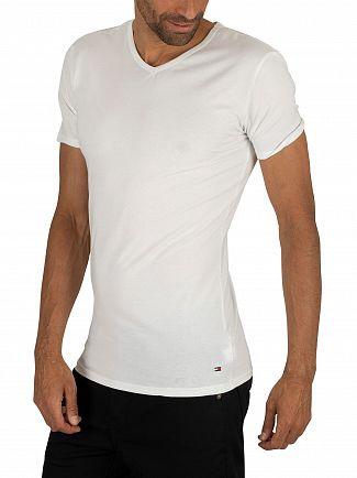 Tommy Hilfiger Black/Grey Heather/White 3 Pack Premium Essentials V-Neck T-Shirts